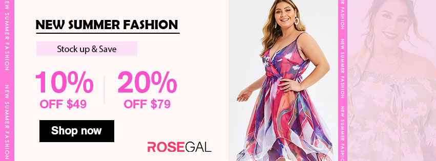New Summer Fashion—10% off $49, 20% off $79 promotion