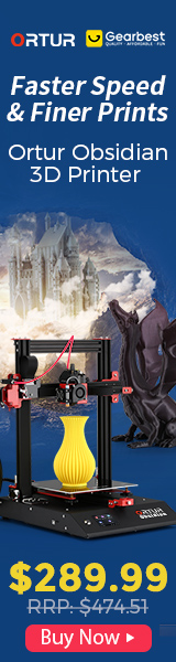 Gearbest Ortur Obsidian 3D Printer promotion