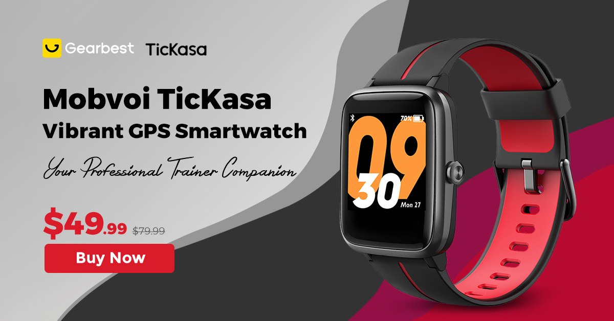 Gearbest 49.99$ for TicKasa Vibrant Smartwatch promotion