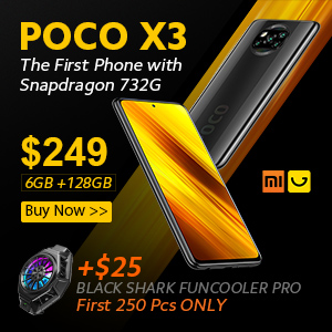 Gearbest only $249 for xiaomi poco X3 6+128G promotion