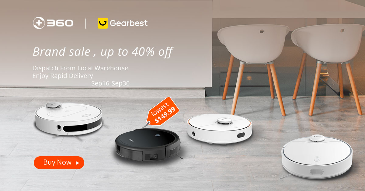 Gearbest 360 Vacuum clean up to 40% off promotion