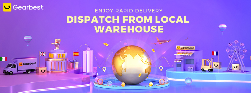 Gearbest Dispatch from local warehouse promotion